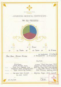 Ayurveda Medical Certificate
