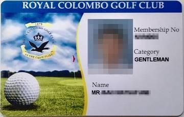 RCGC Membership Card